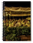 Night At The Cafe - Taormina - Italy Spiral Notebook