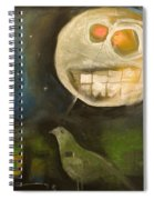 Night Bird Harvest Moon Spiral Notebook