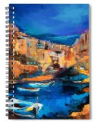 Night Colors Over Riomaggiore - Cinque Terre Spiral Notebook