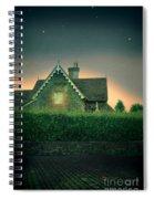 Night Cottage Spiral Notebook