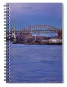 Night Descends Over The Triboro Bridge - Nyc Spiral Notebook