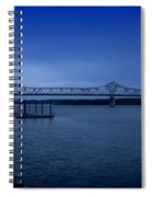 Night Fall On The Illinois River Spiral Notebook