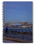 Night Falling Over The East River - Manhattan Spiral Notebook