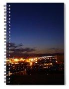 Night Falls At Old Port Of Quebec Spiral Notebook