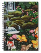 Night Fish Hand Embroidery Spiral Notebook