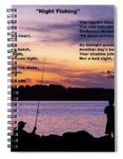 Night Fishing - Poem Spiral Notebook
