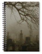 Dark Rolling Night Fog Spiral Notebook