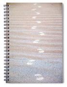 Night Beach Sand Footprints Spiral Notebook
