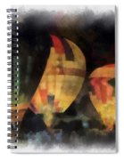 Night Glowing Hot Air Balloons Photo Art Spiral Notebook