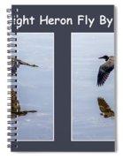 Night Heron Spiral Notebook