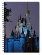 Night Illuminates Cinderella Castle Spiral Notebook