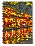 Night Life By The River Walk Spiral Notebook