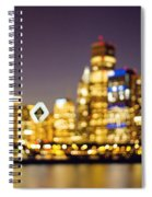 Night Lights - Abstract Chicago Skyline Spiral Notebook