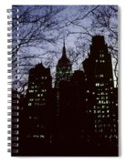 Night Lights Empire State Two Trees Spiral Notebook