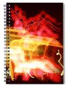 Night Lights Holiday Inn Sign 2 Spiral Notebook