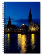 Night Lights In Inverness Spiral Notebook