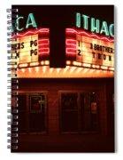 Night Lights Ithaca Theater Spiral Notebook