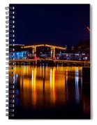 Night Lights On The Amsterdam Canals 1. Holland Spiral Notebook