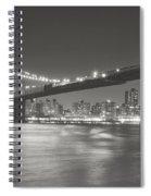 Night - New York City - Brooklyn Bridge Spiral Notebook