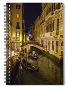 Night On The Canal - Venice - Italy Spiral Notebook