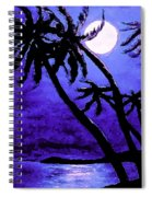 Night On The Islands Painterly Brushstrokes Spiral Notebook