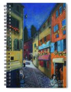 Night Street In Pula Spiral Notebook