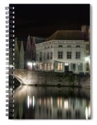 Night Time On The Canal Spiral Notebook