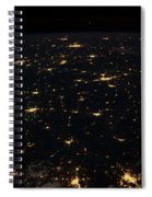 Night Time Satellite Image Of Cities Spiral Notebook