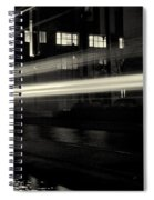 Night Train Black And White Spiral Notebook