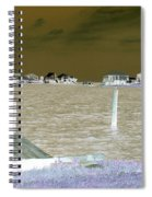 Night View Of Lafitte Bay Dauphin Island Alabama Spiral Notebook