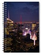 Night View Of New York Spiral Notebook