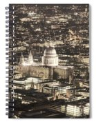 Night View Over St Pauls Spiral Notebook