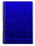 Night View With Deers Digital Painting Spiral Notebook