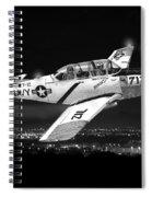 Night Vision Beechcraft T-34 Mentor Military Training Airplane Spiral Notebook
