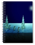 Night Walk Of The Penguins 2.5 Spiral Notebook