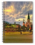 Nightfall On Jackson Square Spiral Notebook