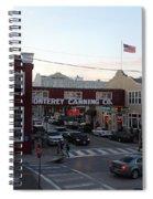 Nightfall Over Monterey Cannery Row California 5d25146 Spiral Notebook