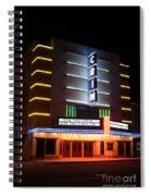 Nightime Shot Of Kilgore Crim Theater Spiral Notebook