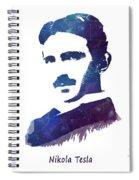 Nikola Tesla Patent Art Electric Arc Lamp Spiral Notebook