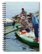 Nile River Fishermen  Spiral Notebook