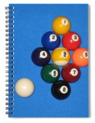 Nine Ball Rack. Spiral Notebook