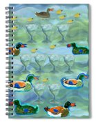 Nine Of Cups Spiral Notebook
