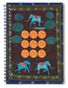 Nine Of Pentacles Spiral Notebook