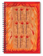 Nine Of Wands Spiral Notebook