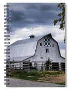 Nine Patch Quilt Barn Spiral Notebook