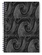 Nine Times On Black Spiral Notebook