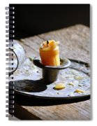 Nineteenth Century Candle And Holder Spiral Notebook