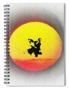 Ninja Duel In The Sun Spiral Notebook