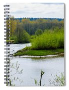 Nisqually River From The Nisqually National Wildlife Refuge Spiral Notebook