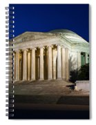 Nite At The Jefferson Memorial Spiral Notebook